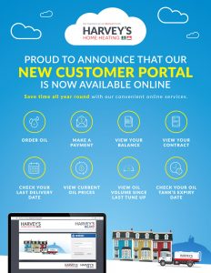 New Online Customer Portal for Harvey's Home Heating - Pay Your Bills Online